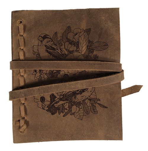 CORAGGIO Lilies and Sparrows Rustic Leather Journal