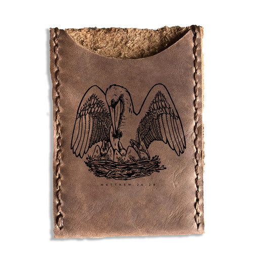 CORAGGIO Pelican Leather Card Holder