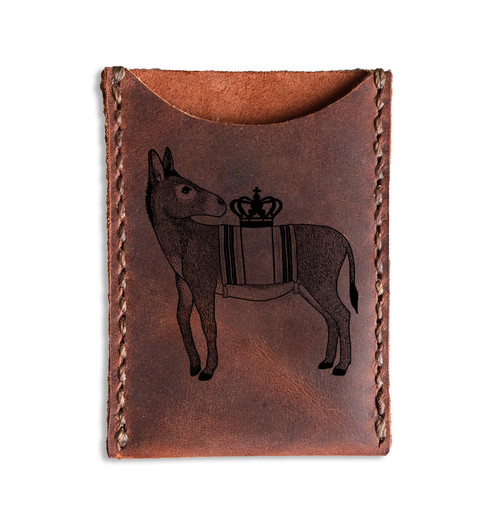 CORAGGIO Donkey Leather Card Holder