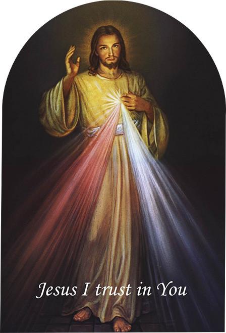 "Divine Mercy Arched 8X12"" Aluminum Print"