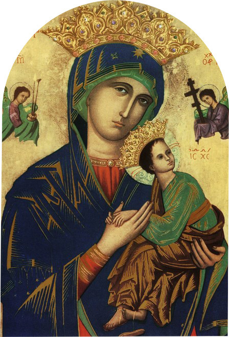 "Mother of Perpetual Help Arched 8x12"" Aluminum Print"