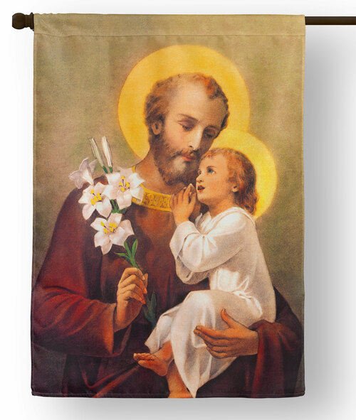 Saint Joseph Outdoor House Flag