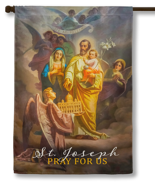 Saint Joseph, Patron of the Church (Pray for Us) Outdoor House Flag