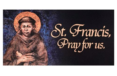 St. Francis Vinyl Bumper Sticker