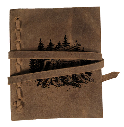 CORAGGIO Axe & Stump Rustic Leather Journal