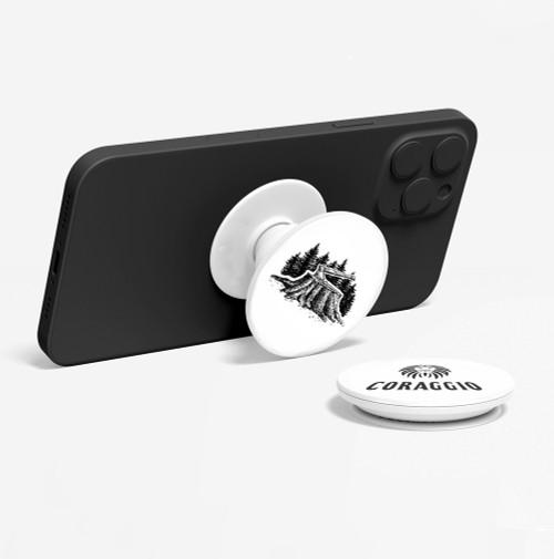 CORAGGIO Axe & Stump Pop-Up Phone Holder