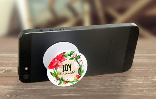 """Joy to the World"" Pop-Up Phone Holder"