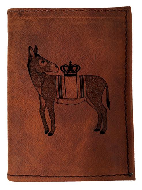 CORAGGIO Donkey Tri-Fold Leather Wallet
