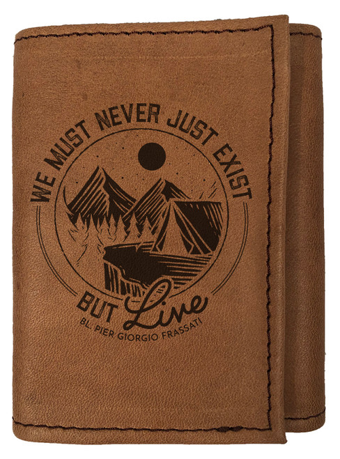 """""""Live"""" Tri-Fold Leather Wallet"""