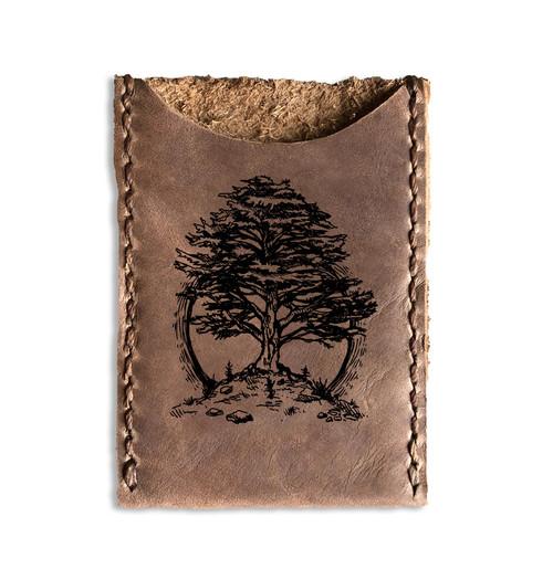 CORAGGIO Cedar of Lebanon Leather Card Holder