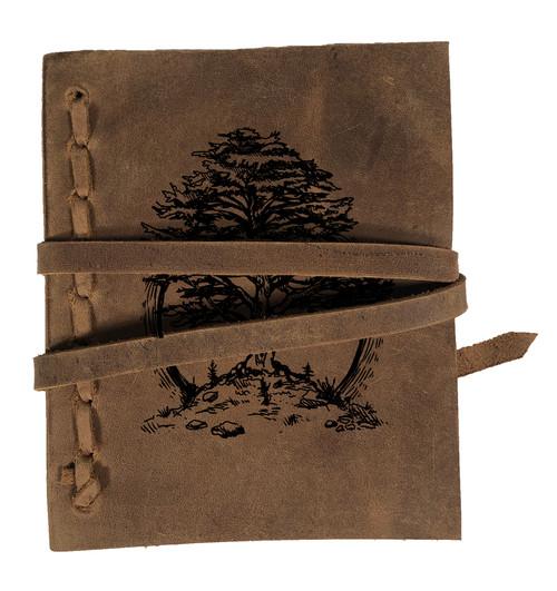 CORAGGIO Cedar of Lebanon Rustic Leather Journal