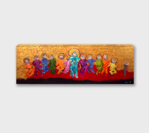 Last Supper by Paula Trzepacz Gallery Wrapped Canvas