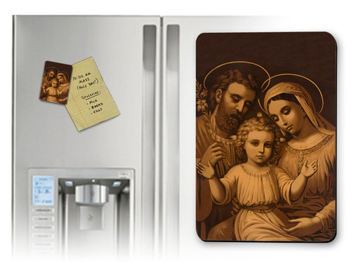 Sepia Holy Family Magnet