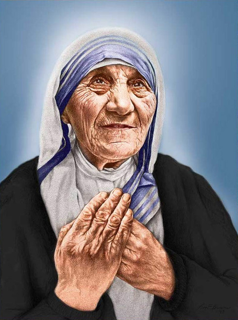 LIMITED EDITION St. Teresa of Calcutta Canvas in Assorted Frames