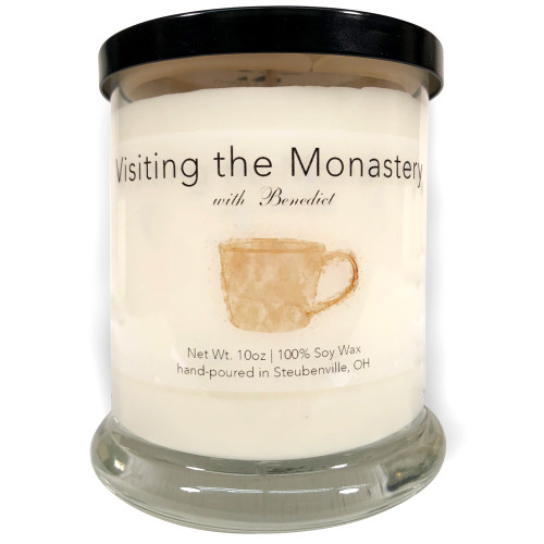 """""""Visiting the Monastery with Benedict""""  Soy Candle"""