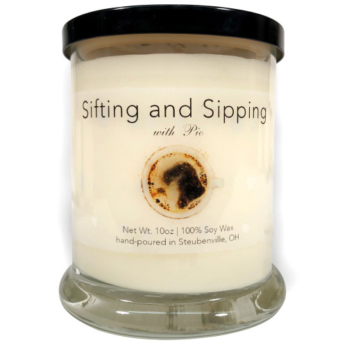 """""""Sifting and Sipping with Pio"""" Fresh Coffee Soy Candle"""