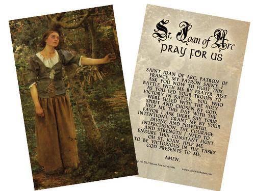 St. Joan of Arc Holy Card