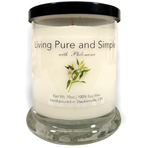 """""""Living Pure and Simple with Philomena""""  Soy Candle"""