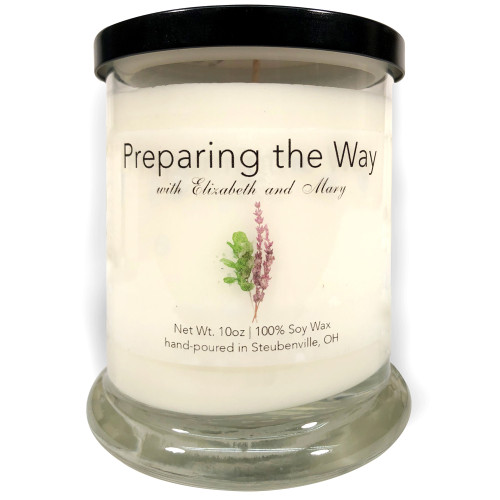 """""""Preparing the Way with Elizabeth and Mary""""  Soy Candle"""