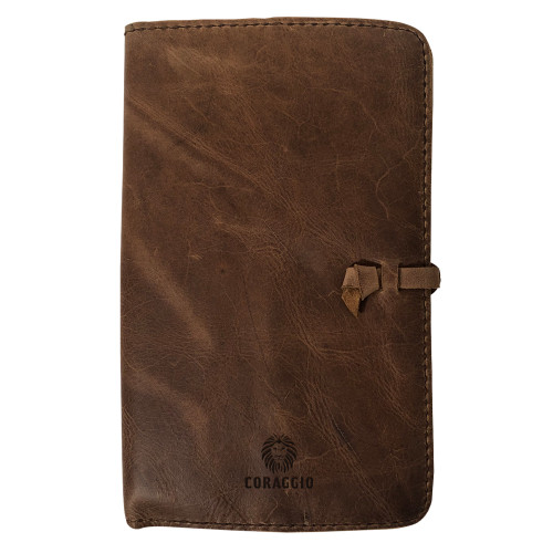 """""""Do Small Things"""" Rustic Leather Journal Cover"""