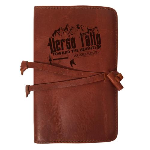 """Verso L'alto"" Rustic Leather Journal Cover"