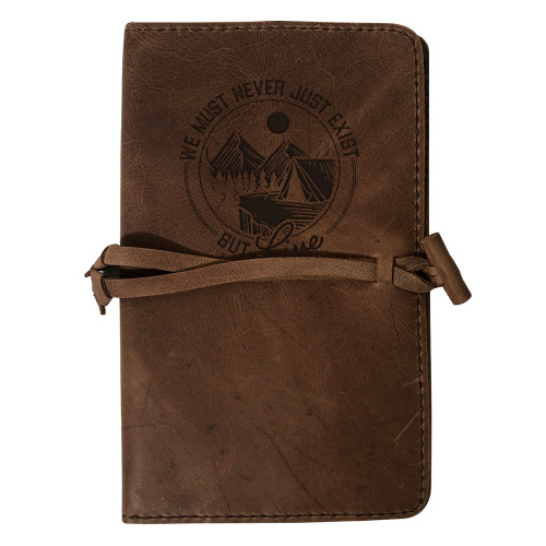 """""""Live"""" Rustic Leather Journal Cover"""