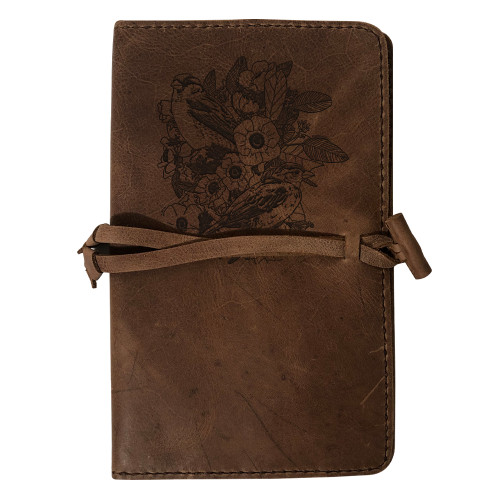 CORAGGIO Lilies and Sparrows Rustic Leather Journal Cover