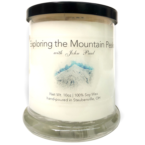 """""""Exploring The Mountain Peak with John Paul""""  Soy Candle"""