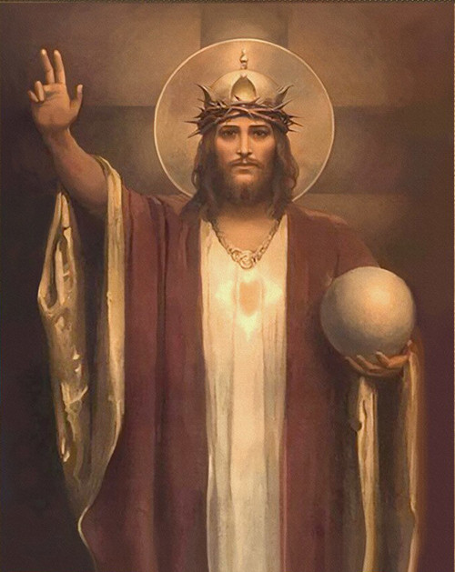 LIMITED EDITION Christ the King by Chambers Canvas in Assorted Frames