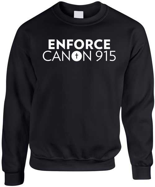 Enforce Canon 915 Black Crewneck Sweatshirt