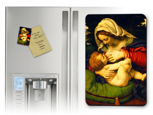 Madonna of the Green Cushion Magnet