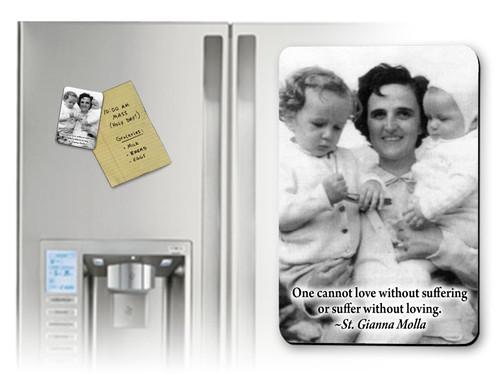 St. Gianna Molla (Black & White) Magnet