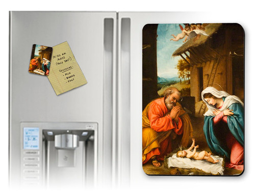 Nativity with Reaching Jesus Magnet