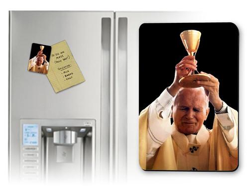 St. John Paul II Raising Chalice Magnet