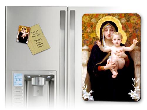 La Vierge au Lys Magnet