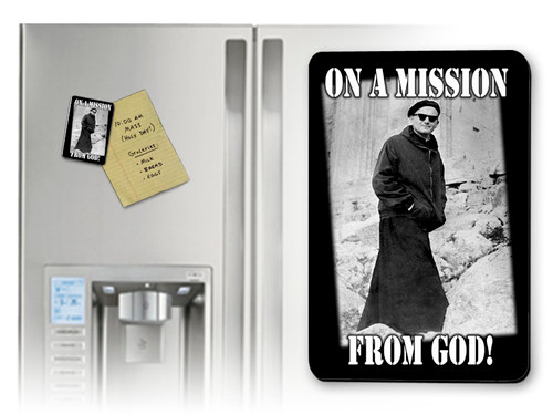St. John Paul II On A Mission From God Magnet