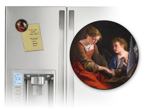 St. Cecilia Round Magnet