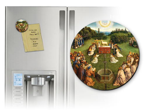 Altar of the Lamb Detail Round Magnet