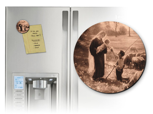Gift of the Shepherd Round Magnet