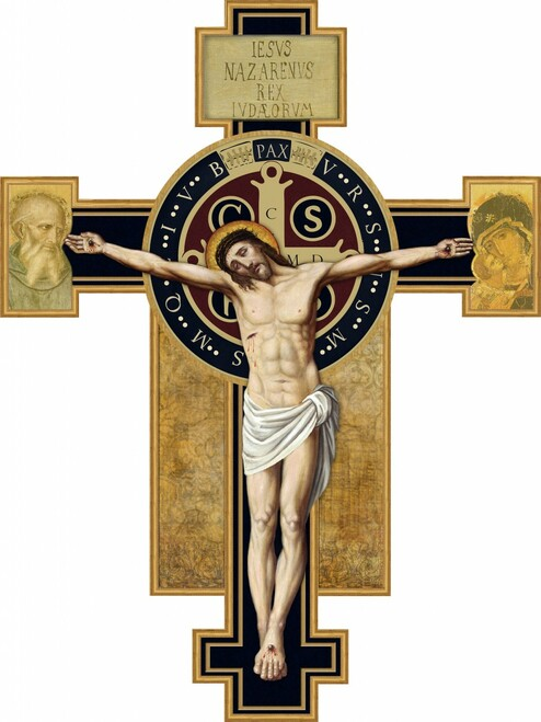 Benedictine Cross Wall Plaque Crucifix