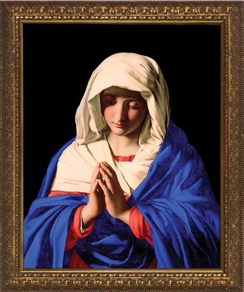 Madonna in Prayer - Gold Framed Art