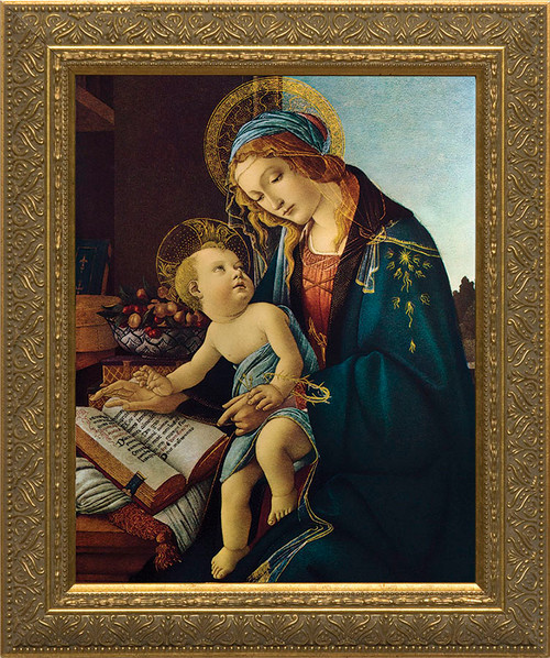 Madonna and Child by Botticelli - Classic Gold Framed Art