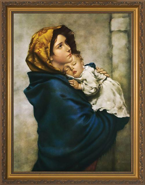 Madonna of the Streets - Gold Framed Art