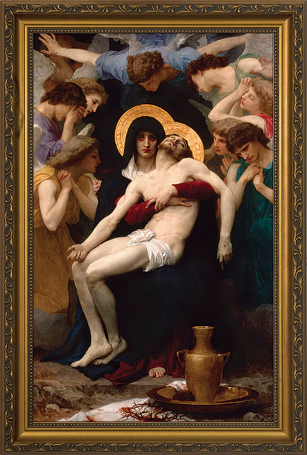 La Pieta - Gold Framed Art