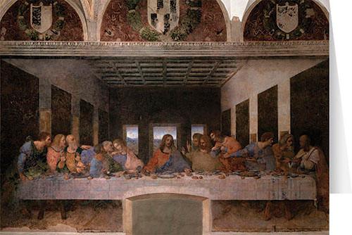 Last Supper by Da Vinci Greeting Card