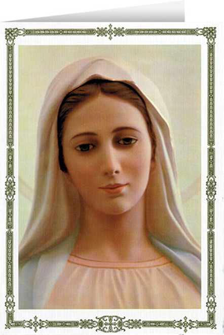 Our Lady of Medjugorje Greeting Card