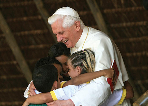 Pope Benedict XVI with Children Dozen Postcards
