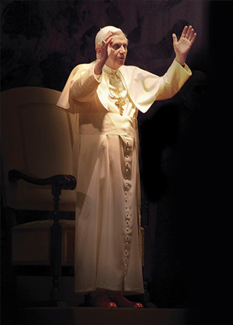 Pope Benedict XVI Standing in Blessing Dozen Postcards