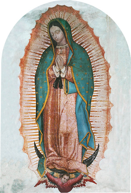 """Our Lady of Guadalupe Arched 8x12"""" Aluminum Print"""