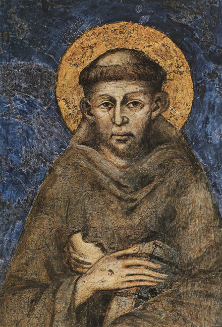 St. Francis by Cimabue Outdoor Image Plate